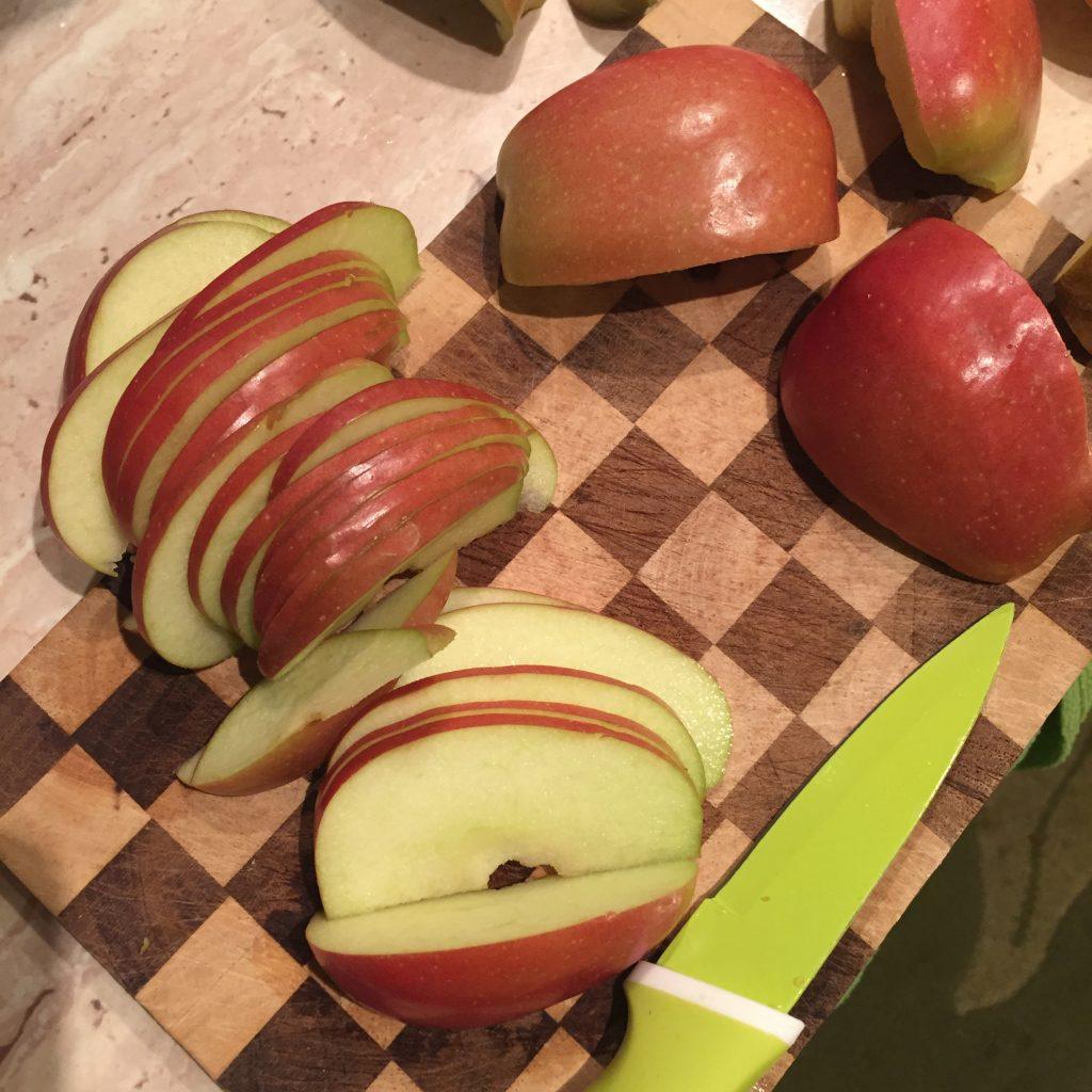 plastry jabłek