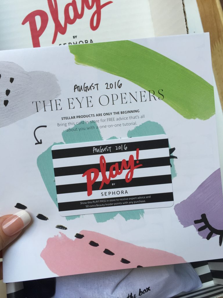 Sephora Play! The Eye Openers