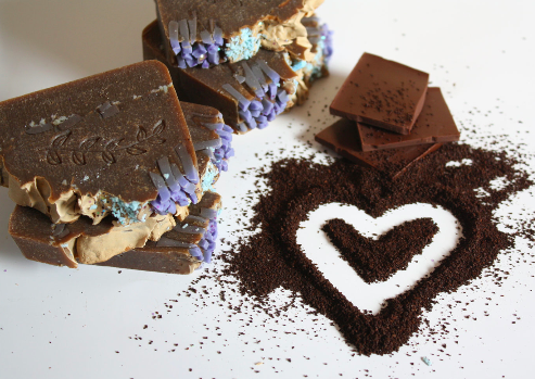 kawa i czekolada mydło