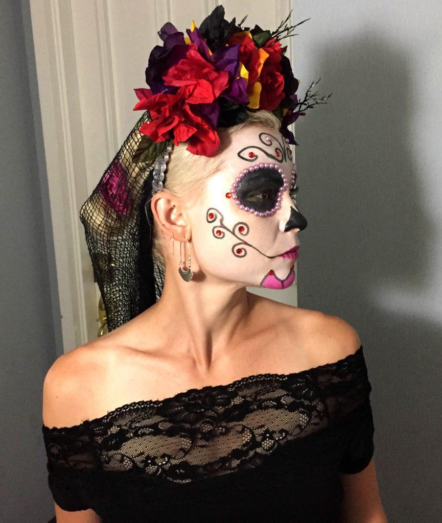 La Calavera Catrina makeup sugar skull makijahe makijaż