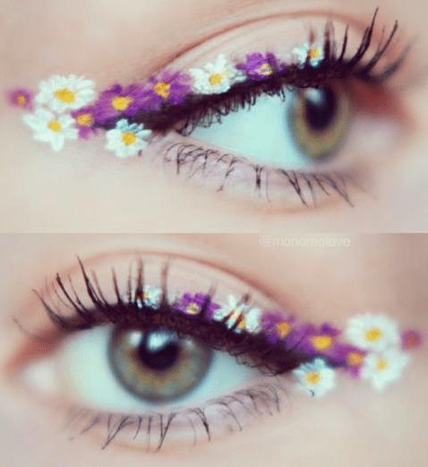 kwiatkowy makijaż