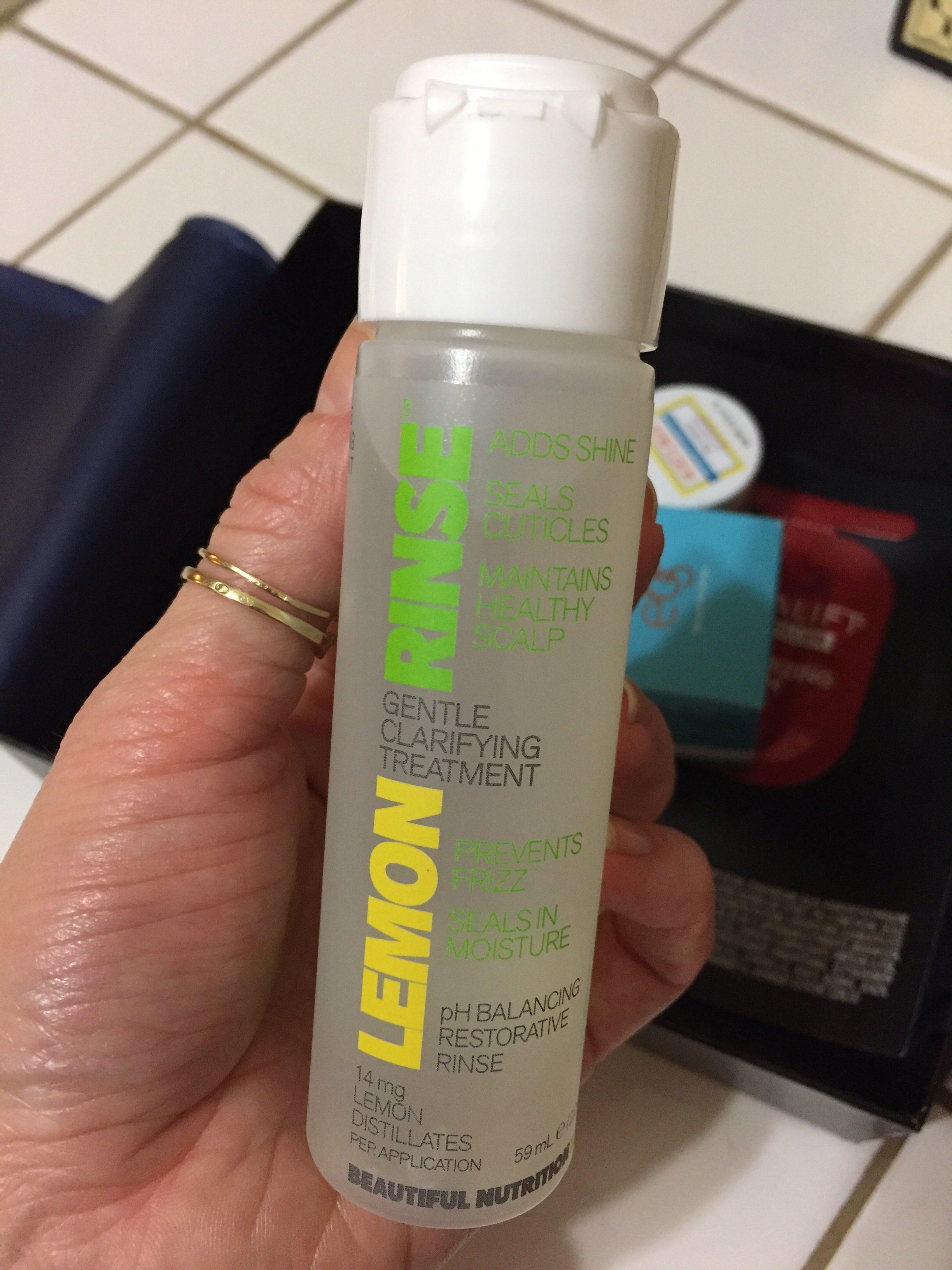 cytrynowa płukanka do włosów Beautiful Nutrition